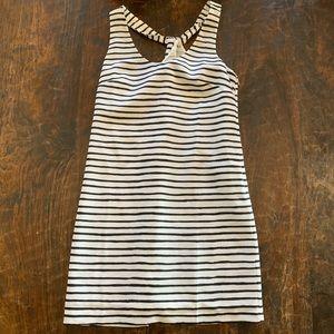 J Crew blue and white stripe dress